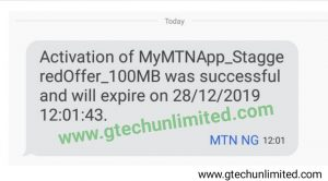 MTN GIVEAWAY: FREE 100MB TO ALL MTN USERS