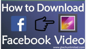 HOW TO DOWNLOAD FACEBOOK VIDEOS TO YOUR PHONE GALLERY.