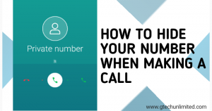HOW TO HIDE YOUR NUMBER WHEN MAKING A CALL IN ALL NETWORK