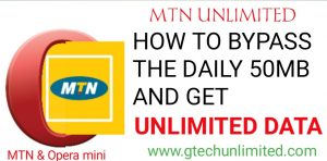 HOW TO BYPASS THE DAILY 50MB FROM OPERA MINI AND GET UNLIMITED DATA.