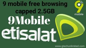 9MOBILE FREE BROWSING CAPPED 2.5GB USING TLS TUNNEL VPN
