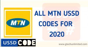 ALL MTN USSD CODES FOR 2020