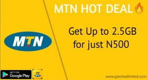 MTN HOT DEALS:How To Activate N500 For 2.5GB