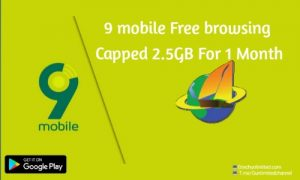 New 9Mobile Free Net Capped 2.5GB