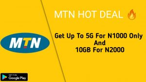 MTN Hot Deal: How To Get 5GB For #1000 And 10GB For #2000 ( No USSD Code Required)