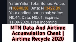 MTN Data And Airtime Accumulation Cheat| Airtime Recycle