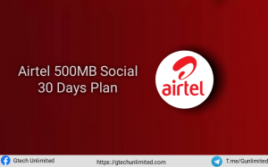 Airtel 500MB Social Bundle Plan How To Activate N100 for 500MB
